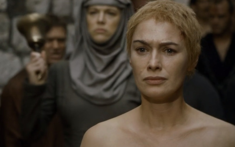 La famosissima Shame Walk di Cersei in Game of Thrones